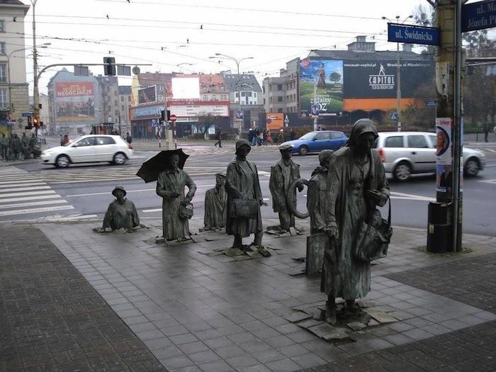 Underground passage memorial in Wroclaw, Poland