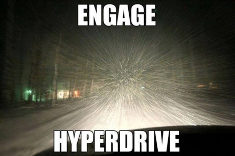 What it feels like driving while it's snowing