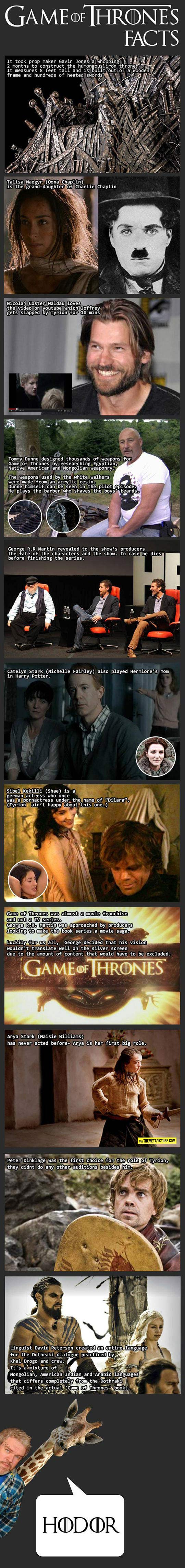 Some interesting Game of Thrones facts…