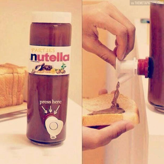 My life is complete: Nutella sized for parties…