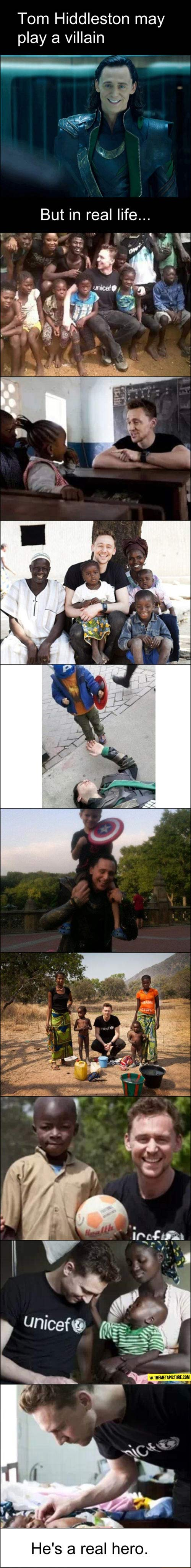 You're a good guy Tom Hiddleston…