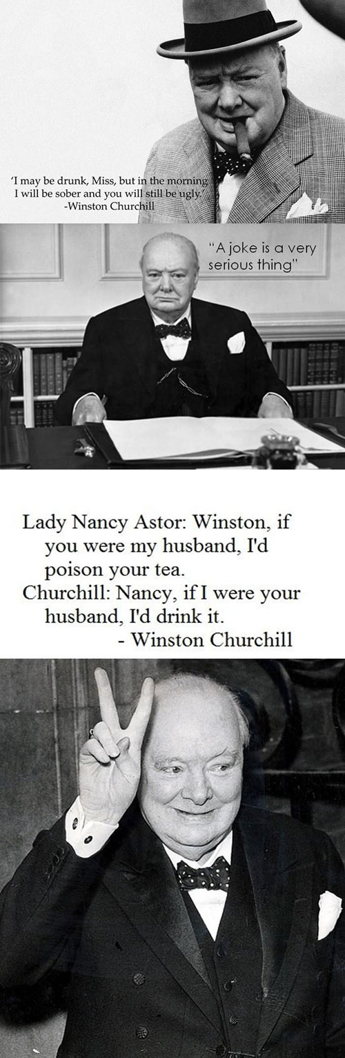 Winston Churchill always knew what to say…