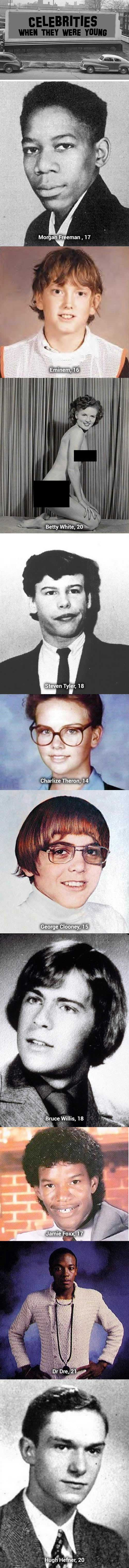 Famous people when they were teenagers