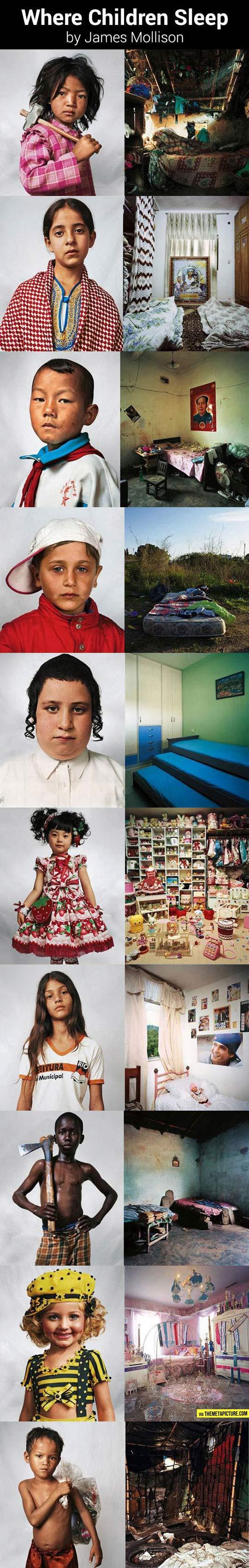 Where children sleep…