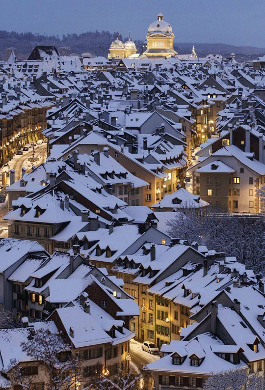 Winter in Bern, Switzerland…