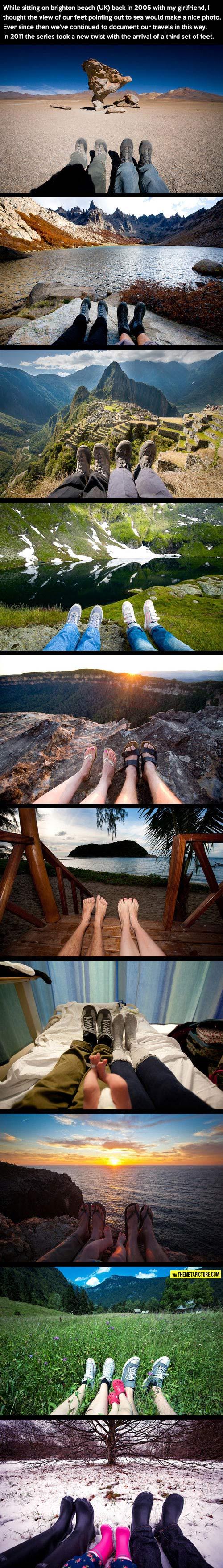 Traveling around the world…