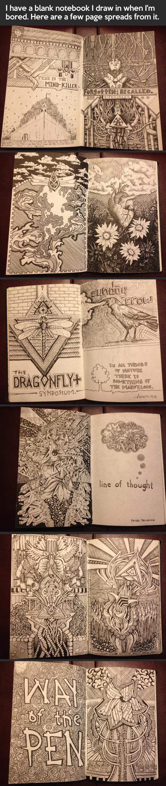 cool-drawings-Sharpie-notebook