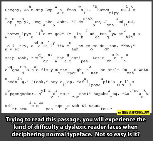 Dyslexia sucks…