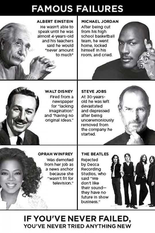 Everyone can fail…