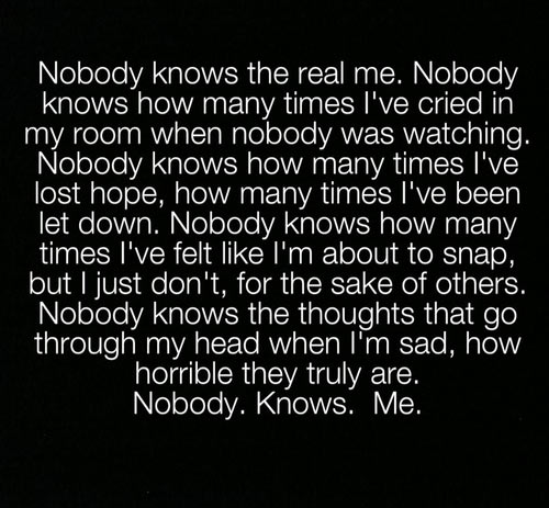 The truth about me…