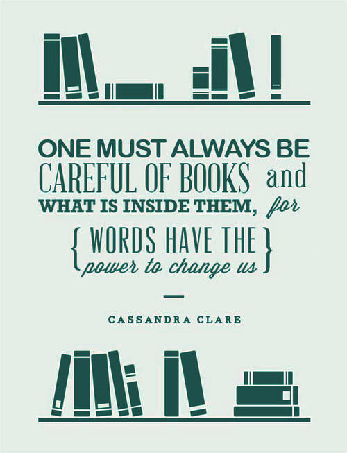 Be careful with books…
