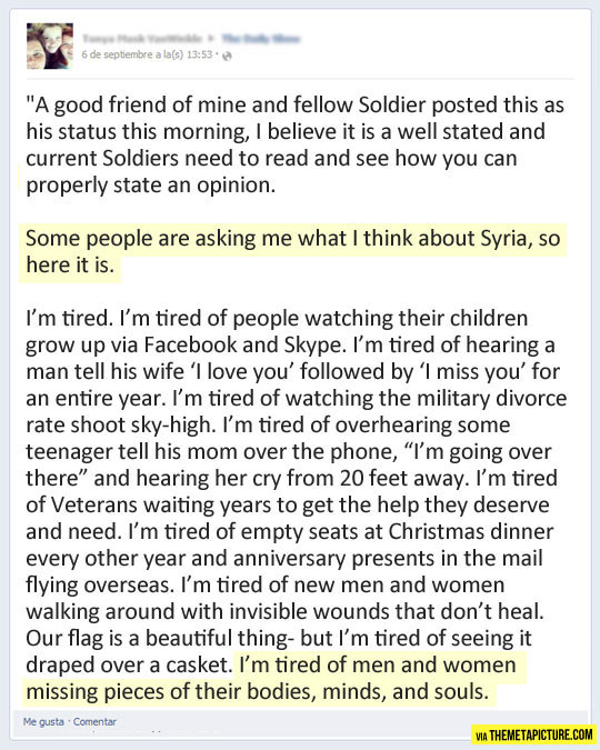 A soldier's perspective on Syria…