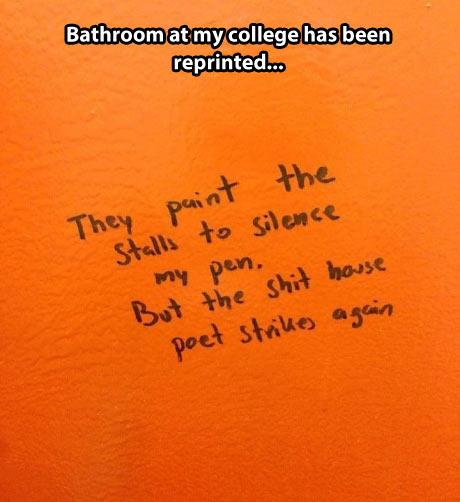 The stall poet strikes again…