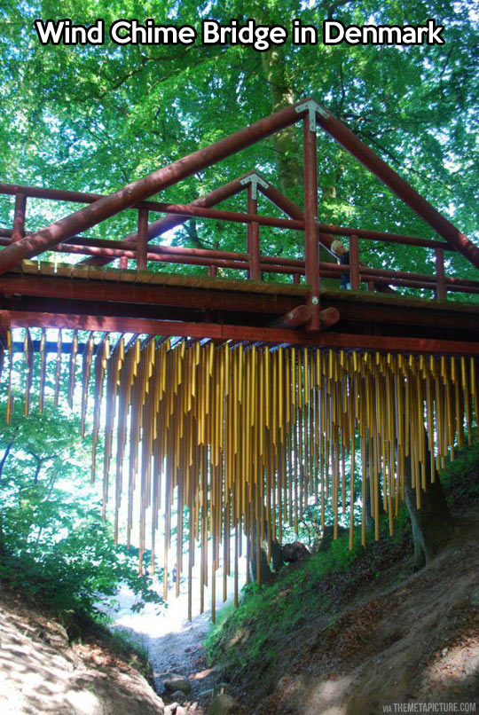Wind chime bridge…