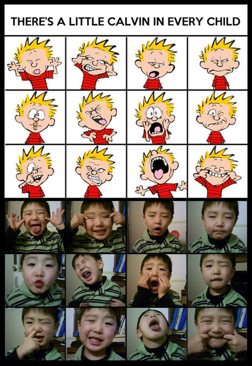 Every kid has a little Calvin inside…