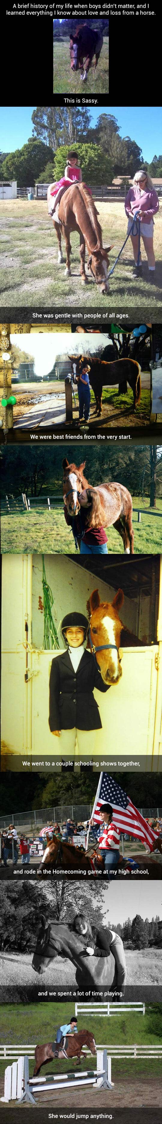 Girl and horse become best friends...