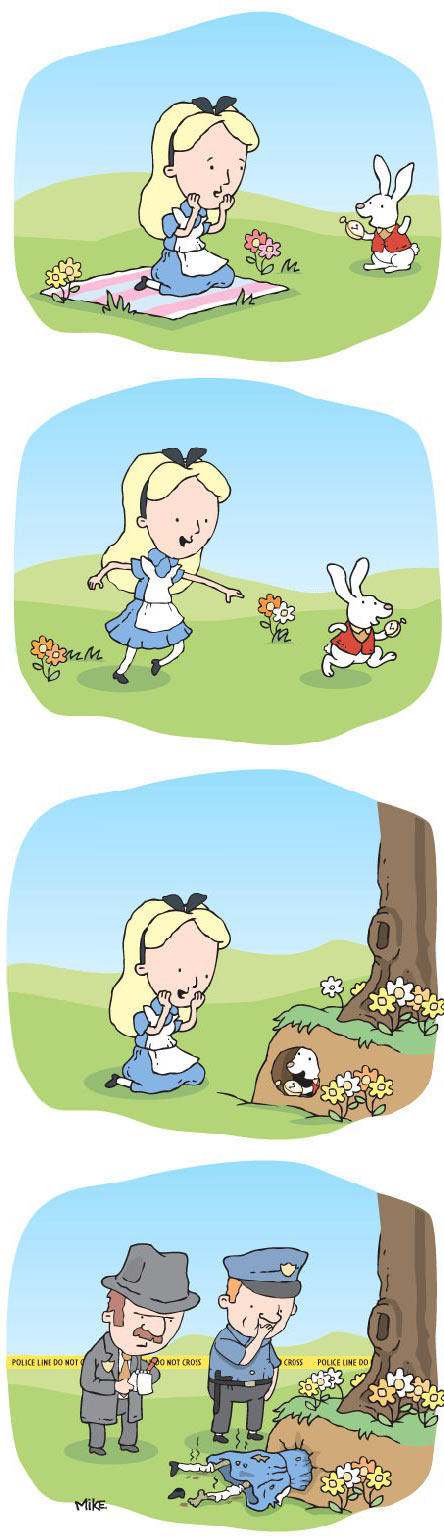 A disturbing version of Alice In Wonderland…