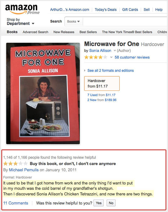Oh Amazon, your books and their reviews are sometimes so bleak…