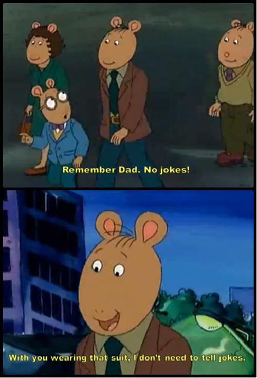 Arthur's dad is kind of a scumbag…