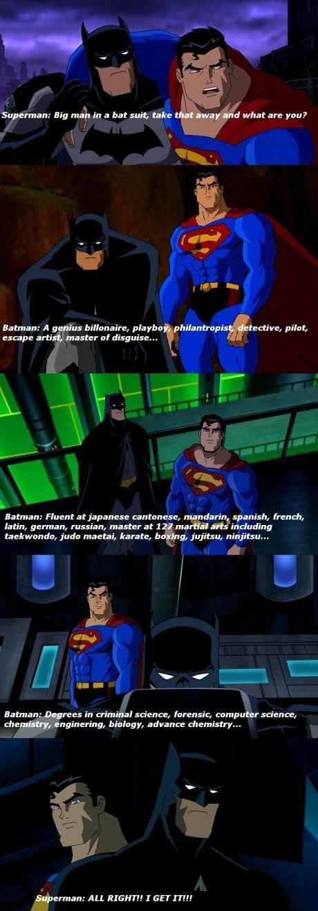 Why I like Batman more than Superman…