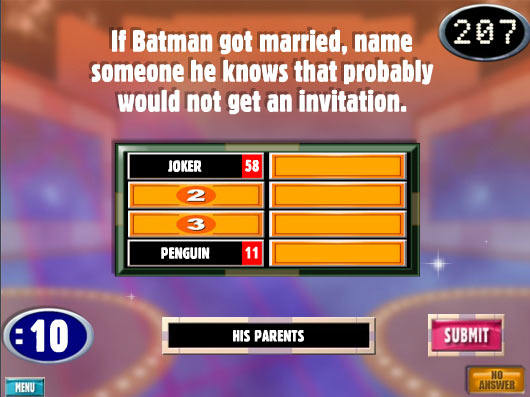 Playing Family Feud…