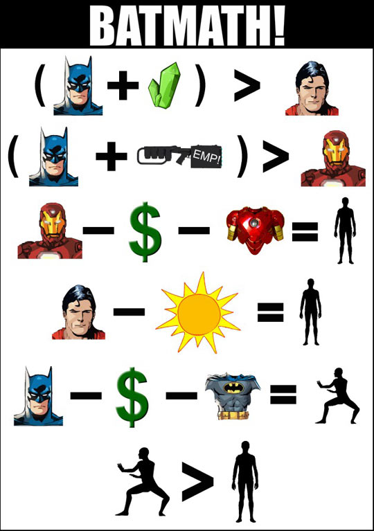 This is why Batman is better…