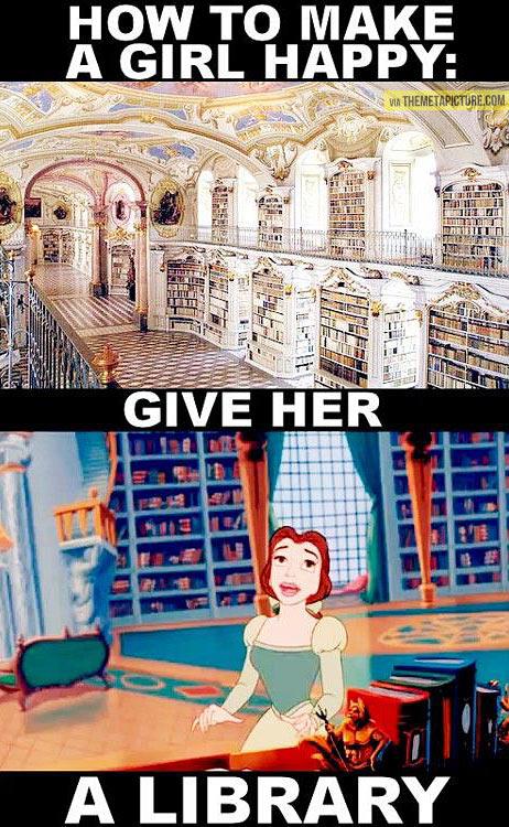 funny-Bella-Beast-library-happy
