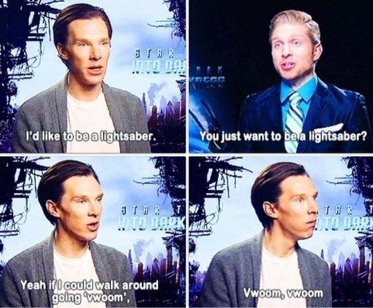 I'd like to be a lightsaber…