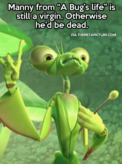Just realized this about this in A Bug's Life…