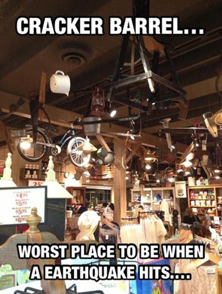 Worst place to be in times of disaster…