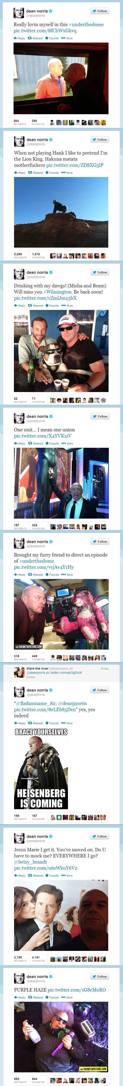 Breaking Bad's Dean Norris on Twitter…