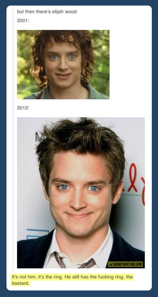 But then there's Elijah Wood…