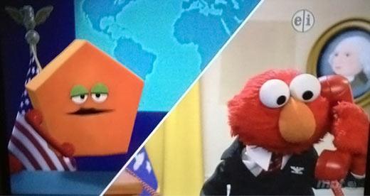 Elmo contacting the pentagon…