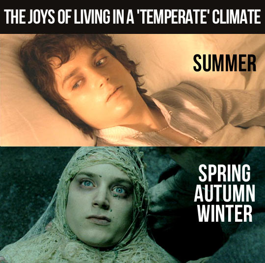 Living in a temperate climate…