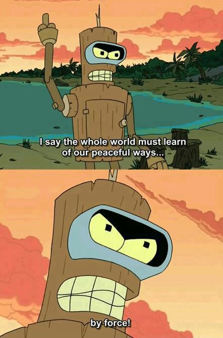funny-Futurama-Bender-peaceful-force