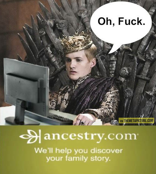 Joffrey checks his family tree…