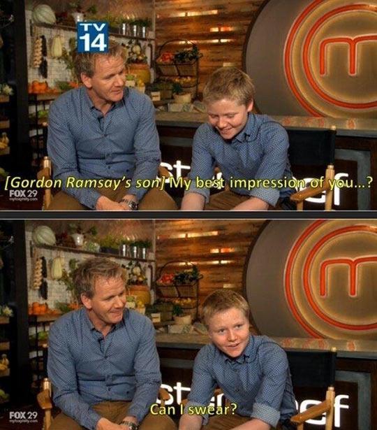 Gordon Ramsay S Son Best Impression