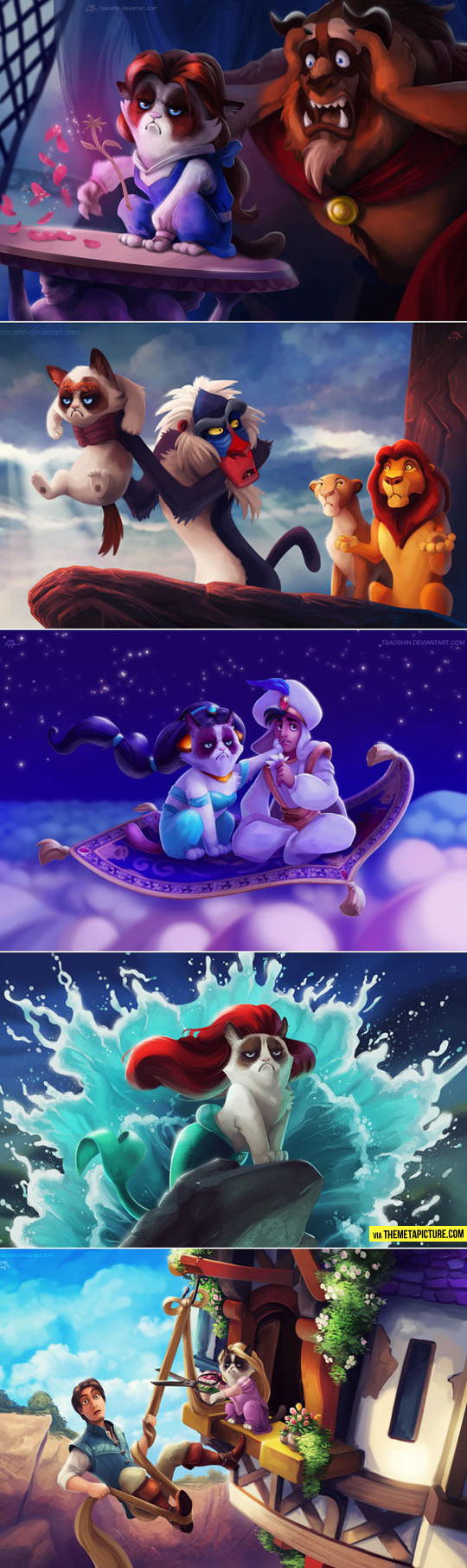 Grumpy Cat in Disney Movies…