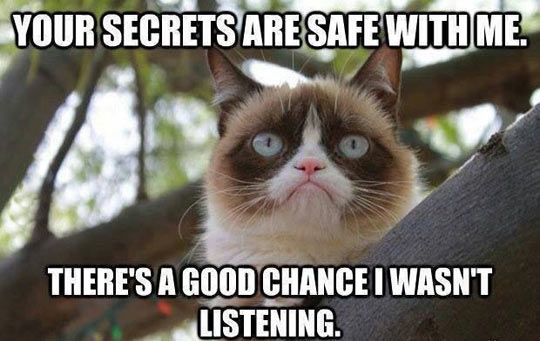 Don't worry about your secrets…