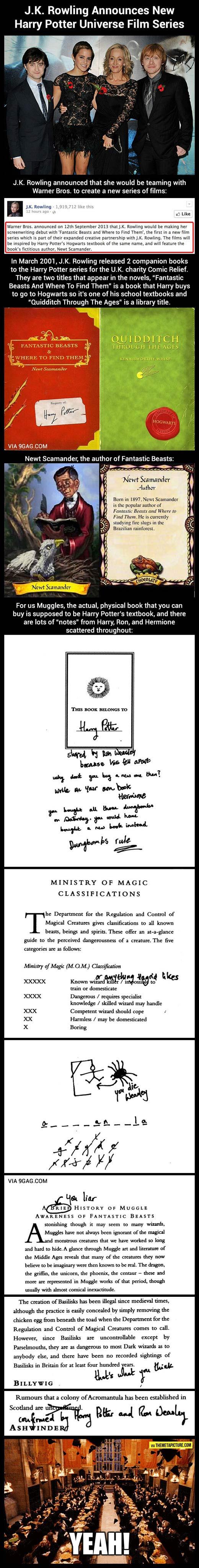 J.K. Rowling announces new Harry Potter film…