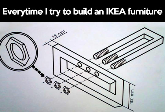 Trying to build IKEA furniture…