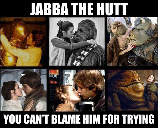 You can't blame Jabba the Hutt for trying…