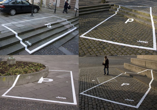 Jeep parking space ads…