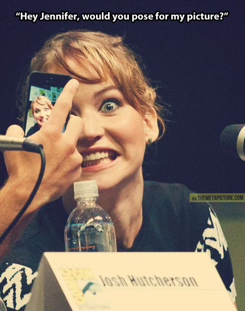 Pose for my picture   Jennifer Lawrence Funny Face
