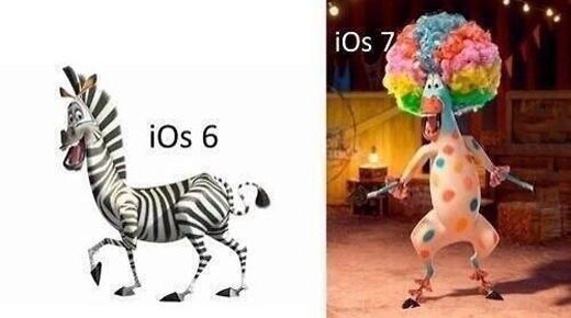 Apple's iOS 6 vs. iOS 7…
