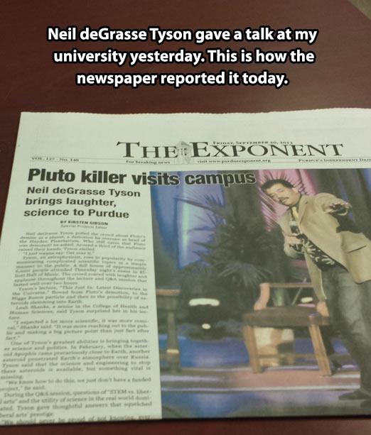 Accurate newspaper headline…