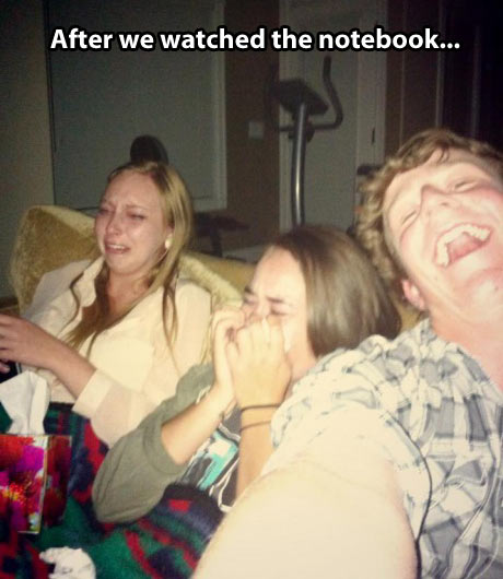 Watching The Notebook aftermath…
