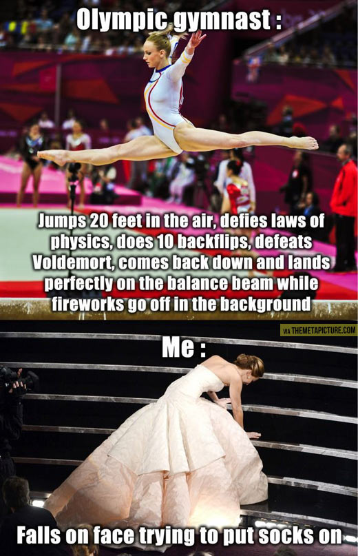 Olympic gymnast vs. me…