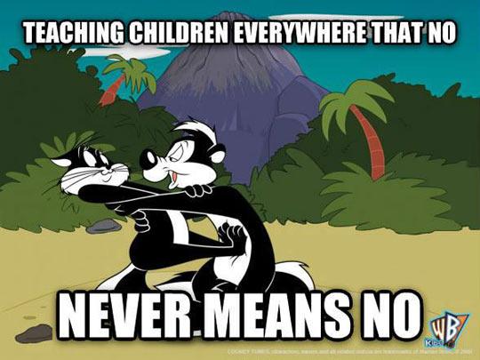 Pepe Le Pew's lesson…