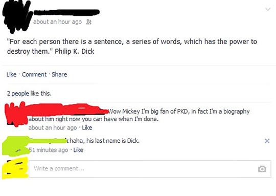 For every person there is a sentence…